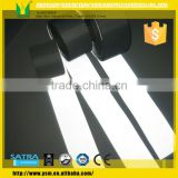 Reflective fabric strip for safety jacket