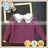 purple baby girls 1 year old 2 year old clothes winter new model collection hot sale children sweaters, winter models cardigans