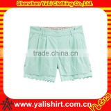 Fashion wholesale cotton lace casual teen girl shorts children's clothes made in china
