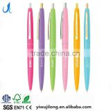 High-grade and smooth write bic logo print plastic ballpoint pen