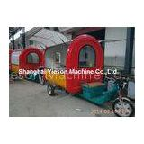 Red And Yellow Outdoor Fast Food Cart For Snaking Mobile Caravan