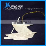 0.5mm Brass Boat Shaped Decoration With Gold String