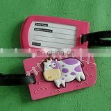 factory supplier Promotional custom 3D cute PVC TAG soft rubber pvc luggage tag,Garment PVC Label