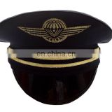 blue security cap with applique embroidery