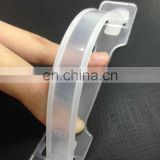 Transparent plastic handles for carton boxes