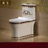 Floor mounted china factory supplier bathroom project luxury ceramic one piece purple colored siphonic toilet wc