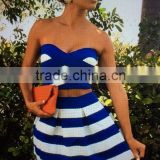 Summer dress 2014 new love girl fashion Strapless two piece set bandage fashion party dress Bandage Bodycon Women Wearing