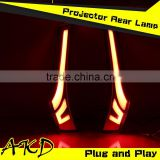 AKD Car Styling LED Tail Lamp for Honda Jazz LED Tail Light New Fit Tail Lights Rear Trunk Lamp DRL+Turn Signal+Reverse+Brake