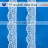 LZ-7035 embroidery mesh newest design thin bridal lace trim