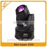 China smart new design 45W stage dj equipment led beam mini moving head light                                                                                                         Supplier's Choice