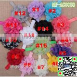 hot selling Net flower handmade beaded hair accessories elastic headband material MY-AC0058