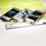 Factory direct 3000mAh polymer cell mirror panel mobile advertising power bank for all smart phones