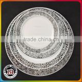Plastic silver Charger Wedding Plate