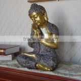 Tibet Sleeping Buddha Statue Hand Carved Folk Vintage Napping Serene Tranquil Peace Solemn Buddha