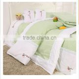 Embroidered LOGO Bedding Set 6pcs Baby Crib Bedding Set