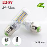 5730 E27 E14 LED Lamp 5730SMD LED Lights Led Corn Bulb 24 36 48 56 69 72Leds Chandelier Candle Lighting Pendant Light 10pcs lot
