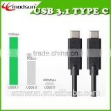 New Standard Type C Male to TYPE C Male Reversible Plug,High Speed USB 3.1 TYPE C connector