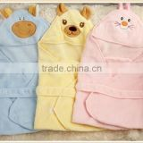 Microfiber Coral Velvet Fleece Baby Hooded Towel                                                                         Quality Choice