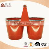 Special design twins colored metal bucket with one handle