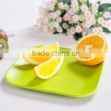 safety natural eco-friendly bamboo fibre food tray, fruit plate holder, bamboo tray