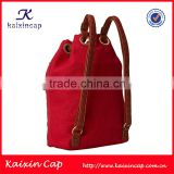 small quantity acceptable high quality wholesale custom leather strap backpack production