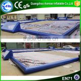Custom-made blue portable indoor football fields inflatable soccer field for rentals