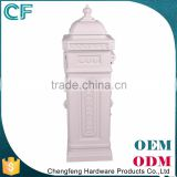 The Most Popular Style In Europe Foshan Supplier Cast Aluminiun White Exterior Post Boxes From China