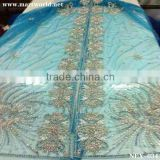 blue Indian Sarees with hand sewing beads and stones (NEX-034)                                                                         Quality Choice