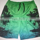 100%polyster stock printed boy's beach shorts