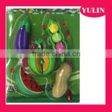 ERP47 Hot selling Fruits and vegetables combined rubber/ eraser packages , children eraser set
