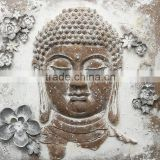 Relief Rust Style Portrait Painting 3D Buddha Portrait
