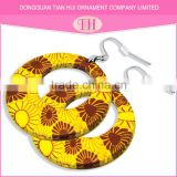 High quality light weight simple gold color flower picture hooks earring designs for women