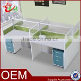 2016 new design 4 person office computer desk workstation aluminium partition screen M1672