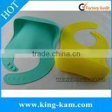 custom silicone bib toddlers, soft waterproof silicone baby bib                                                                                                         Supplier's Choice