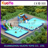 inflatable water slide with frame pool,outdoor inflatable water park,big inflatbale water park for adults