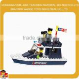 Factory price Toys for chilren Police Petrol Boat Block Set