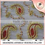 Wholesale gold sequin mesh embroidery fabric
