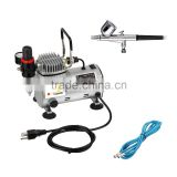 Tagore TG212-130 Professional Portable Silent Oiless Single Cylinder Piston Hobby Model Paint Temporary Tattoo Airbrush Kit                                                                         Quality Choice