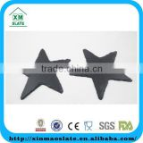 [factory direct] Star Shaped 15x15cm Natural Edge Oiled Slate Drink Coaster Item BD-1515ID2AY