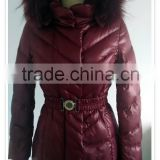 2015 New Women's Fur Collar long jackets, women's winter Red down coats,italian fashion jackets