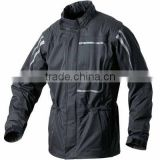 2014 chic design reflective safety waterproof motorcycle raincoat black
