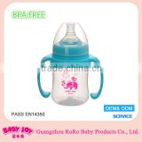 BPA free factory plastic milk bottle customized logo baby bottle