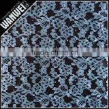 black and blue lace fabric beads sequins in textile knitting textitle light for evening dress