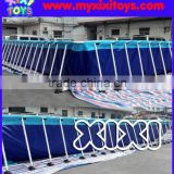 1.3m height Large inflatable water pool with metal frame supporting, swimming pool for kids water park