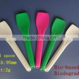 Biodegradable eco friendly ice cream spoons colorful cartoon yogurt spoons EU 1935/2004 FDA safe hot sale