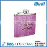 novelty hip flasks,thermos hip flask ,Rhinestone Like veneer flask HF804                                                                         Quality Choice