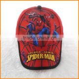 Spider Man cartoon girls new children baseball cap European and American foreign trade peaked cap sun hat