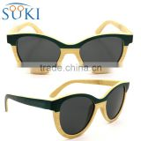 Cat eye Handmade bamboo sunglasses polarized customized logo                                                                                                         Supplier's Choice