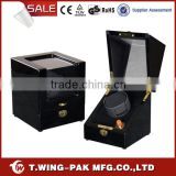 Fashion single watch winding box&case, material wood and velvet, single watch winder display
