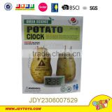 2015 Hot sell funny Environmental energy saving and reproducible Material Conversion Power Supply potato alarm clock toy